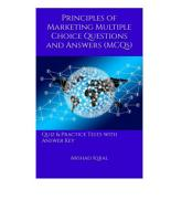 Principles of Marketing Multiple Choice Questions and Answers  MCQs  PDF