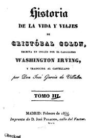 Historia de la vida y viajes de Cristóbal Colon: Volumen 3