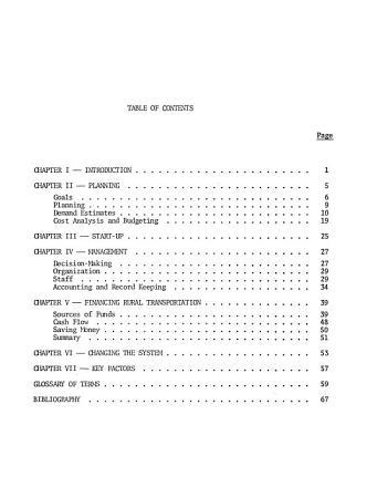Planning Rural Public Transportation Systems PDF