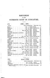 Catalogue of Records and Files in the Office of the Clerk of the Supreme Judicial Court for the County of Suffolk, 1890