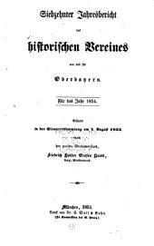 Jahres-bericht des Historischen vereines von Oberbayern: Bände 17-19