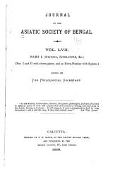 Journal of the Asiatic Society of Bengal: Volume 57, Part 1