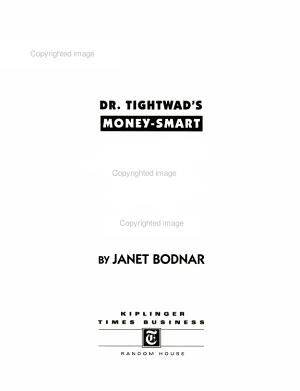 Dr  Tightwad s Money smart Kids PDF