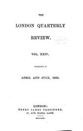 The London Quarterly Review: Volume 24