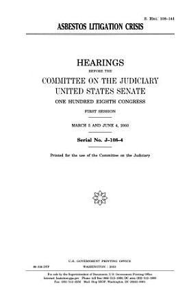 Asbestos Litigation Crisis PDF