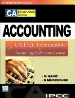 Accounting  For Ca Ipcc Exam PDF