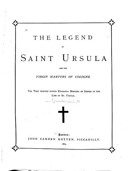 Download The Legend of St  Ursula and Her Companions Book