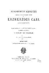 Ausgewählte Schriften weiland seiner kaiserlichen Hoheit des Erzherzogs Carl von Oesterreich: Band 7