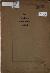 The Students of the World United: The World's Student Christian Federation; the World's Student Conference at Eisenach; Some Achiements of the Year 1897-98