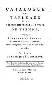 Catalogue des tableaux de la Galérie Impériale et Royale de Vienne