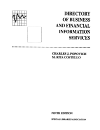 Directory of Business and Financial Information Services PDF