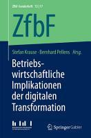 Betriebswirtschaftliche Implikationen der digitalen Transformation PDF