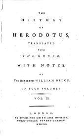 The History of Herodotus: Volume 3