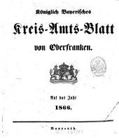 Königlich-Bayerisches Kreis-Amtsblatt von Oberfranken: 1866