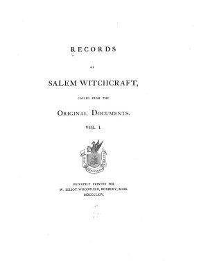 Records of Salem Witchcraft PDF
