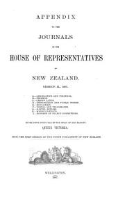 Appendix to the Journals of the House of Representatives of New Zealand: Volume 1