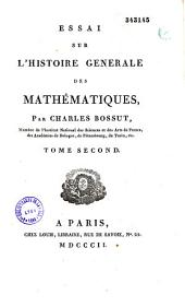Essai Sur L'Histoire Generale DEes Mathematiques