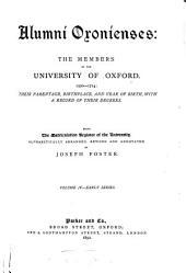 Alumni Oxonienses: S-Z