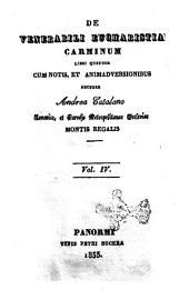 De venerabili eucharistia carminum libri quatuor cum notis et animadversionibus auctore Andrea Catalano: vol. 4, Volume 4