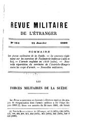 Revue militarie de l'étranger: Volume1