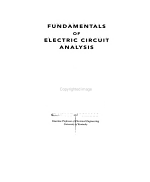 Fundamentals of Electric Circuit Analysis PDF