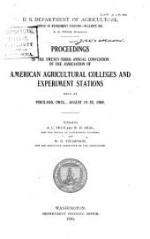 Proceedings of the ... Annual Convention of the Association of American Agricultural Colleges & Experiment Stations: Volumes 23-26
