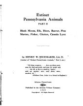 Extinct Pennsylvania Animals: Part 2