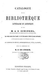 Veilingcatalogus, boeken van A. D. Schinkel, 21 tot 26 november 1864