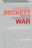 Samuel Beckett and the Second World War PDF