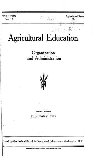 Vocational Division Bulletin  Agricultural Series PDF