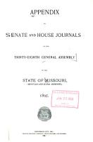 Appendix to the House and Senate Journals of the General Assembly  State of Missouri PDF