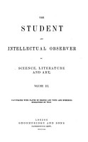 The Student  and Intellectual Observer of Science  Literature and Art PDF