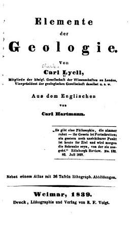 Elemente der geologie PDF