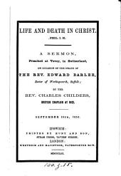 Life and death in Christ, a sermon