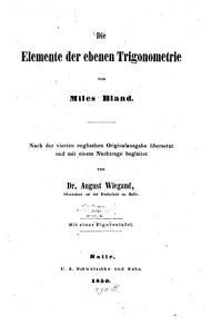 Die Elemente der ebenen Trigonometrie PDF