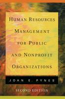 Human Resources Management for Public and Nonprofit Organizations PDF