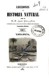 Lecciones de historia natural: Zoología, Volumen 1