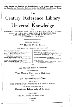 The Century Reference Library of Universal Knowledge