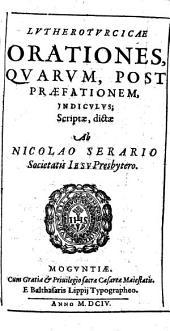 Luthero-Turcicae orationes ...