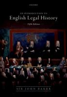Introduction to English Legal History PDF