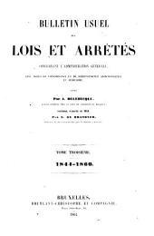 Bulletin Usuel des Lois et Arrêtés