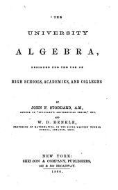 The University Algebra