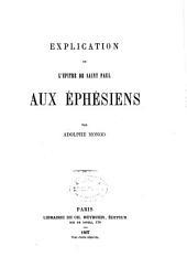 Explication de l'Épître de Saint Paul aux Éphésiens