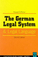 The German Legal System and Legal Language PDF