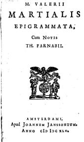 M.Valeri Martialis Epigrammata