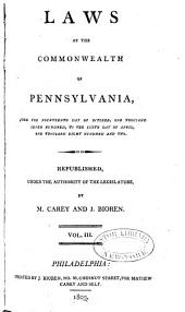 Laws of the Commonwealth of Pennsylvania: Volume 3