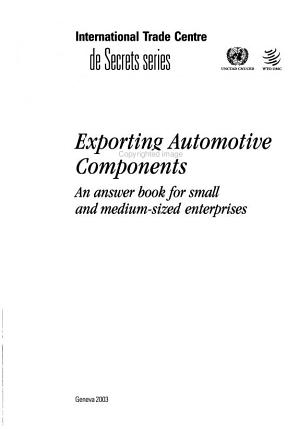 Exporting automotive components PDF