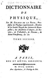 Dictionnaire de physique [et supplement]: Volume2
