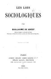 Les lois sociologiques