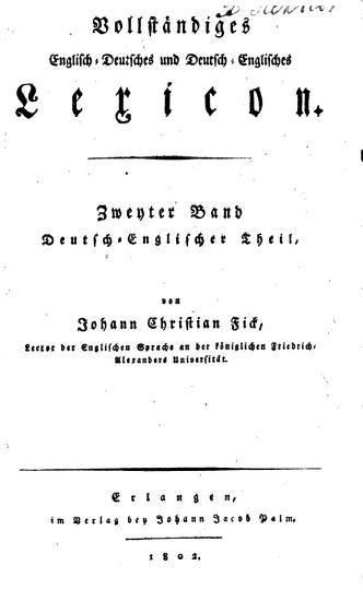 Vollst  ndiges englisch deutsches und deutsch englisches Lexicon PDF